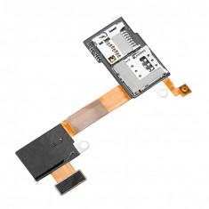 Banda cu modul cititor SIM card MicroSD si buton on-off microcontact Sony Xperia M2 original