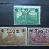 1920 Germania ( Reich ) Mi 116 - 118 Serie completa cu guma si fara sarniera., Stampilat