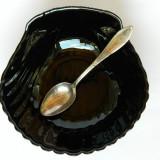 SCOICA neagra pentru icre, salata de peste etc. / cu lingurita argintata - Bol