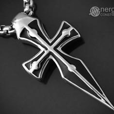 Pandantiv Cruciuliţă / Cruce / Crucifix din INOX - cod PND053