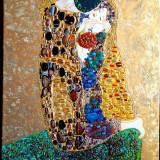 Pictura ulei ornamente reliefate Montura pietre semipretioase Tablou Klimt 11 - Pictor roman, Abstract