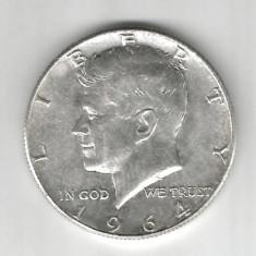 SUA STATELE UNITE ALE AMERICII HALF DOLLAR 1964 ARGINT STARE AUNC, America de Nord