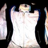Bluza trening Nike alb cu bleumarin 75/60cm - Bluza dama Nike, Marime: 46, Poliester