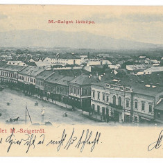3813 - Litho, Maramures, SIGHET, Market - old postcard - used - 1901 - Carte Postala Maramures pana la 1904, Circulata, Printata