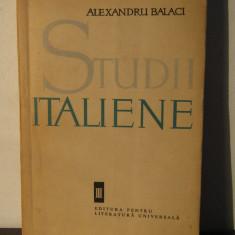 STUDII ITALIENE -ALEXANDRU BALACI - Studiu literar