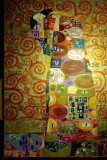 Pictura tehnica mixta ornamente pictate reliefat Tablou Abstract Gustav Klimt 13, Ulei