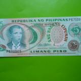 HOPCT FILIPINE 5 PISO 1978 UNC [ 2 ] - bancnota asia