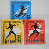 1957 LP 439 CAMPIONATELE INTERNATIONALE DE ATLETISM BUCURESTI - Timbre Romania, Nestampilat
