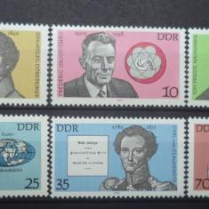 GERMANIA (DDR) 1980 – PERSONALITATI, serie nestampilata VL3 - Timbre straine