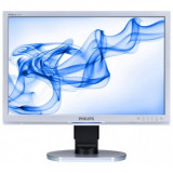Monitor 24 inch LCD, Philips 240BW, Full HD, Silver & Black