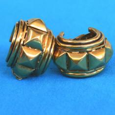 CERCEI CLIPS MARIME XXL, ROSSI BIJOUX MADE IN FRANCE - Cercei placati cu aur