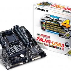 Placa de baza GIGABYTE Socket AM3+, 78LMT-USB3, AMD 760G, 2* DDR3 1333(OC)/1066, VGA/DVI/HDMI, 1*PCIEx16/1*PCIEx1/1*PCI, 6*SATA2 (RAID), 1*IDE, bulk, Pentru AMD, MicroATX