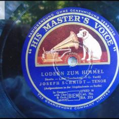 Joseph Schmidt disc patefon gramofon v foto! - Muzica Clasica, Alte tipuri suport muzica