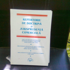 REPERTORIU DE DOCTRINA SI JURISPRUDENTA COMERCIALA - Carte Jurisprudenta