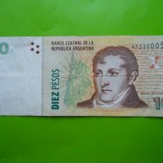 HOPCT ARGENTINA 10 PESOS 2003 - bancnota america