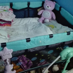 Patut bebe - Patut pliant bebelusi Bebe Confort, 115X85cm, Albastru