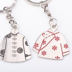 Set Breloc Pentru Cuplu / Indragostiti - Costume Traditionale Baiat Si Fata