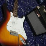 Chitara electrica cu husa amplificator si pana