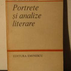 PORTRETE SI ANALIZE LITERARE -AL .SANDULESCU - Studiu literar