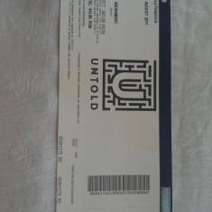 Bilet UNTOLD Full Pass 3-6 August 2017 - Bilet concert