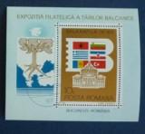 Romania 1983 – BALKANFILA, colita stampilata VL22, Stampilat