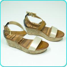 NOI → Sandale dama, cu platforma, usoare, frumoase, YOUNG SPIRIT → femei | nr 39, Culoare: Multicolor, Piele sintetica