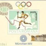 1972 – Preolimpiada Munchen - colita dantelata, Sport, Nestampilat