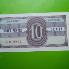 HOPCT TICHET PENTRU NAVROM CONSTANTA 10 CENTI - UNC - RARA - Bancnota romaneasca