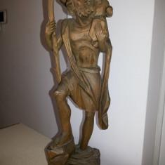 Sculptura veche,in lemn,Sfantul Stelian,protectorul copiilor