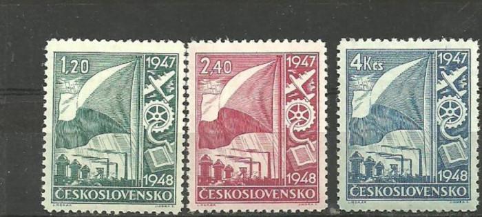 Cehoslovacia 1948 - PA RECONSTRUCTIA TARII, serie MNH, VL20