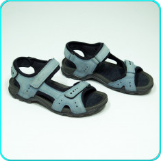 DE FIRMA → Sandale dama, PIELE, comode, aerisite, fiabile, ECCO → femei | nr. 39, Culoare: Bleu, Piele naturala