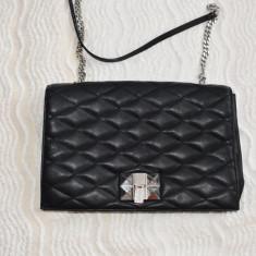 Geanta boho ZARA maro cu franjuri din piele intoarsa - Geanta Dama Zara, Culoare: Negru, Marime: One size