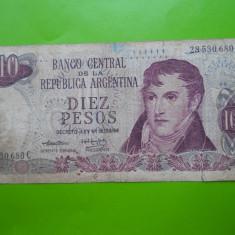 HOPCT ARGENTINA 10 PESOS 1976 - bancnota america