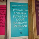 Literatura romana intre cele 2 razboaie mondiale 3 vol/1810pag- Chrohmalniceanu