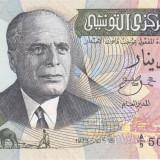 Bancnota Tunisia 1/2 Dinar 1973 - P69 UNC - bancnota africa