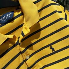 Polo RALPH LAUREN tricou barbati nr.M original, Marime: M, Culoare: Galben, Maneca scurta, Bumbac