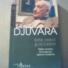 Neagu Djuvara - INTRE ORIENT SI OCCIDENT { Humanitas, 2008   - Istorie
