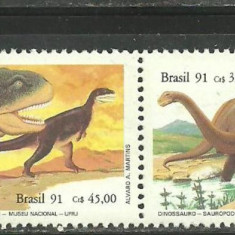Brazilia 1991 - ANIMALE PREISTORICE, DINOZAURI, serie MNH, VL16