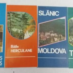 20 PLIANTE TURISTICE ȘI HĂRȚI, ANII 19807 - Pliant Meniu Reclama tiparita