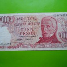 HOPCT ARGENTINA 100 PESOS 1978-80 - bancnota america