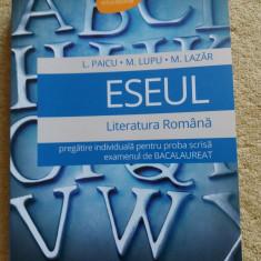 ESEUL GHID DE PREGATIRE PENTRU EXAMENUL DE BACALAUREAT ROMANA - Teste Bacalaureat art