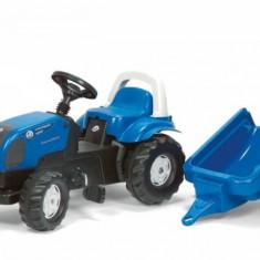 Tractor Cu Pedale Si Remorca 011841 Albastru Rolly Toys - Vehicul