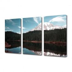 Tablou Multicanvas 3 Piese Creasta de munte - Tablou canvas