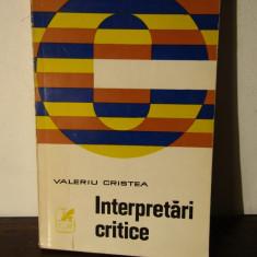 VALERIU CRISTEA-INTERPRETARI CRITICE