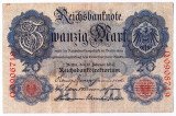 Germania bancnota 20 MARK MARCI 1914 XF