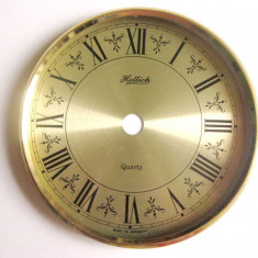 Hettich-cadran cu rama ceas quartz metal auriu. Stare foarte buna. - Piese Ceas