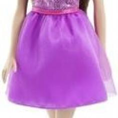 Papusa Barbie Doll Glitz Dress Purple Mattel