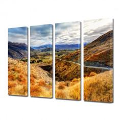 Tablou Multicanvas 4 Piese Drum pe munte - Tablou canvas