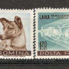 Romania.1957 Catelusa Laika XR.209 - Timbre Romania, Nestampilat