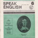 SPEAK ENGLISH NR6/1990 - REVISTA PT INVATAREA LIMBII ENGLEZE - Revista scolara